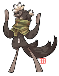 #137 Bavom - Soldier - Sudan stink badger by griffsnuff