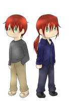 Chibi Brothers by 1luna2