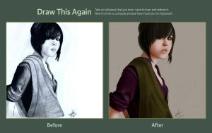 Draw this Again Entry: Ellen Page by HanoOide