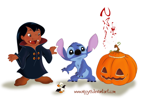 Stitch-My First Halloween by Nippy13