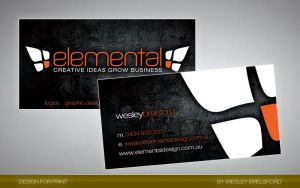 Elemental Business Card by elementaldesign