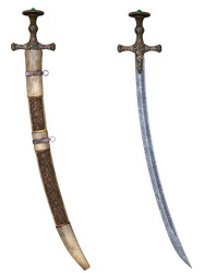UNRESTRICTED - Sword with Scabbard by frozenstocks