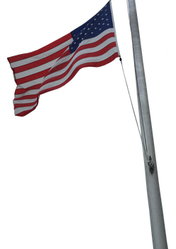USA Flag on Pole 3 by WDWParksGal-Stock