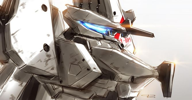 Sidonia's White Knight by MobileSuitGio