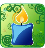 Christmas candle by mim4y