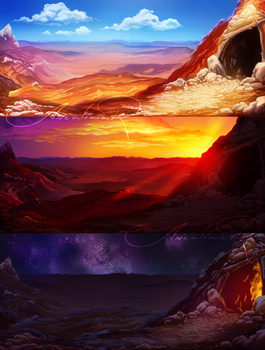 Fist Full of Wilds Backgrounds by ancalinar