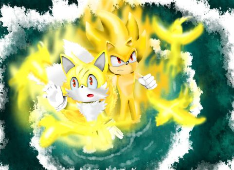 Super Tails - Super Sonic - First Transformation by Paredi