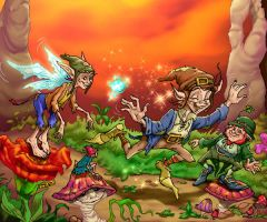 Goblins playing by CARUTOONS