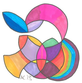 Colorful Circle Cuts I by LiquidCandyRainbow