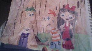 Phineas, Ferb and Isabella (Troy Story) by Erik-the-Okapi