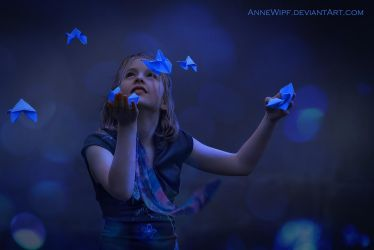 Blue Origami by annewipf