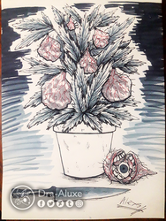 Inktober Day 23 - Plant Gore by Dra-Aluxe