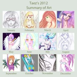 Taez's summary of art 2012 by Taez