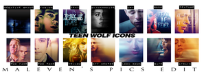 Teen Wolf - Icon Set #1 by LilithJow