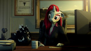 Hardly working. by zOMG-a-DropBear