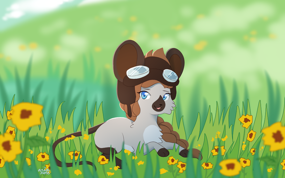 daffodil meadow by Ariamouse