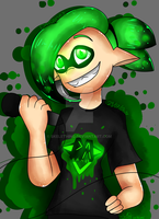 Splatoon Squid DAGames [FANART] by Skelething