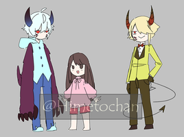 [OC] Little girl and the monsters(?) by Himetochan