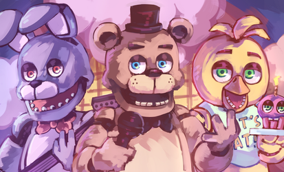 3 Merry Years of Fnaf by Mochiyy