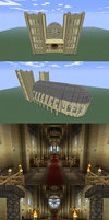 Minecraft Cathedral by Dixbit