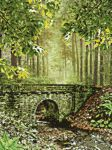 Bridge in the forest by mena1231