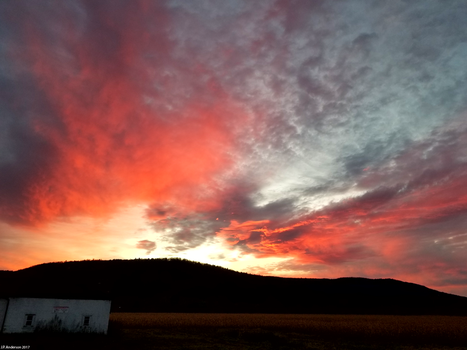 Late Autumn Sky In Glenville, NY by jackthetab