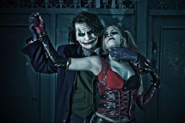 The Joker and Harley Quinn by LeanAndJess