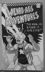 Inktober 2018 - The Man with Stars in His Eyes by superleezard