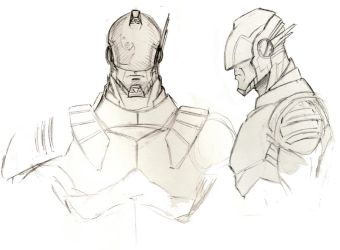 Captain Power Redesign Sketches by aileronchild