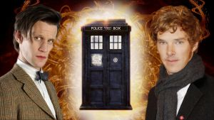 The Doctor and The Master by icewormie