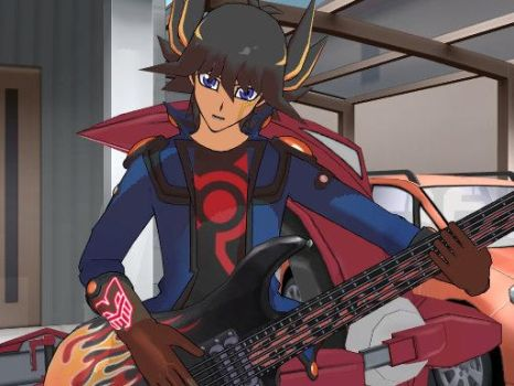 MMD - Garage band. Yusei Fudo by guineapiggin