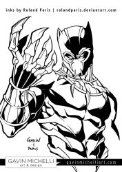 Black Panther Inks by GavinMichelli