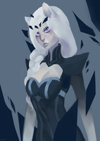 LoL -The cute ice queen by antropix