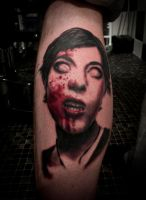 Zombie Girl Tattoo by t-o-n-e