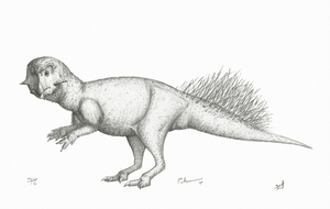 Slightly Speculative Psittacosaurus by DrawingDinosaurs