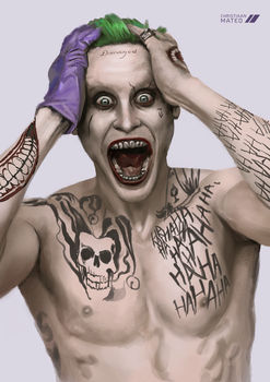 Joker Jared - Speed Painting by MOROTEO56
