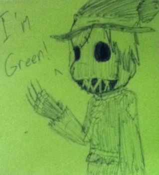 Post-it-note Scarecrow by YukiBlueWho