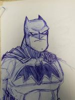ballpoint pen Batman  by rugdog