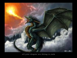 Dragon says: Congrats Jules by miriel