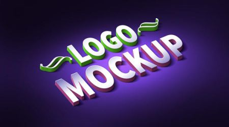 3D Logo And Text Effect Mockup (PSD) by softarea