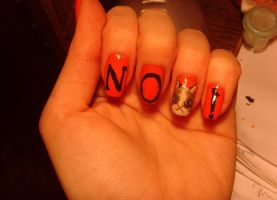 NO cat nails xD by MesiaszCiszy