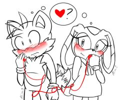 Quickie Valentines Day Present - Tails x cream by alleycatwoman127