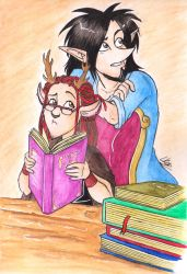 Studying by Horned-Lyzz