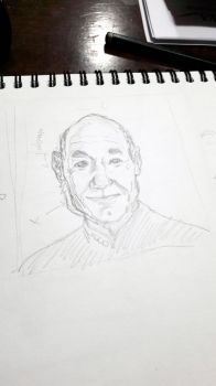 Captain Picard sketch by kinow