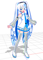Snow Miku by chatterHEAD