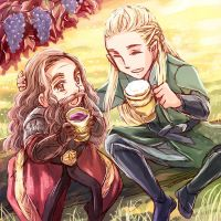 Legolas and Gimli in the Autumn by sena1923