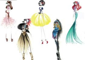 Disney princess go fashion!! by chiccas
