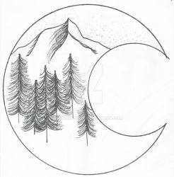 Sketchbook - Mountain Crescent by NikaraRoss