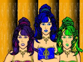 The Pipettes Head Shot Color by EyesOfThePhasm