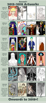 Improvement in 5 years~ by anvemi